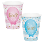 Gender Reveal Paper Cups 266ml Pack of 8
