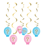 Gender Reveal Dizzy Danglers Hanging Decorations Pack of 5