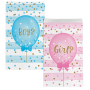 Gender Reveal Treat Favour Bags 19cm x 11cm Pack of 10