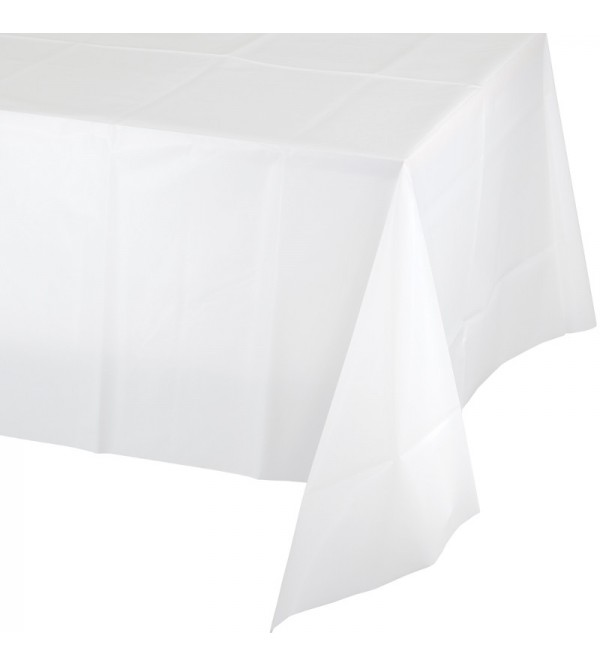 White Tissue & Plastic Back Table Cover