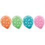 Teardrop Hawaiian Summer Luau Tiki Design Latex Balloons 30cm Pack of 15