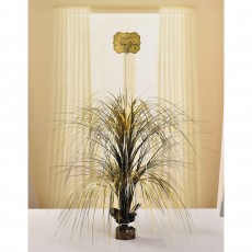Black, Silver & Gold Foil Happy New Year Centrepiece 71cm