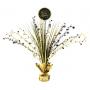 Black & Gold Happy Birthday Centrepiece 45cm
