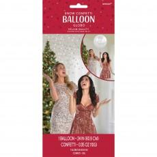 Christmas Let It Snow Confetti Latex Balloon 60cm