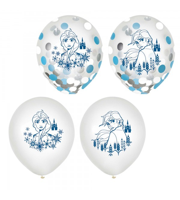 Disney Frozen 2 Confetti Filled Latex Balloons 30cm Pack of 6