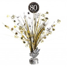 80th Birthday Sparkling Celebration Spray Centrepiece 45cm