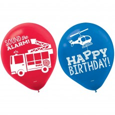 Firefighter Party Decorations - Latex Balloons First Responders