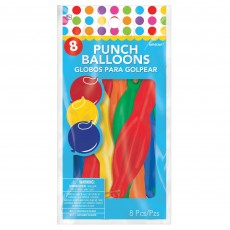 Multi Colour Party Decorations - Latex Balloons Punch Balloons