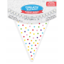 Rainbow Dots Large Paper Pennant Banner