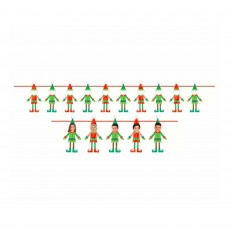 Christmas Party Decorations - Banners Do It Yourself Faces Elf Ribbon