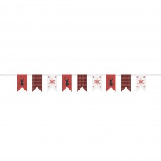 Christmas Theme Burlap Cloth Pennant Banner 2.74m