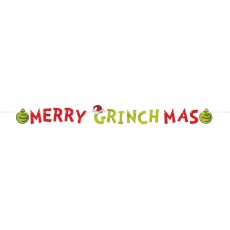 Christmas Party Decorations - Banner The Grinch Letter