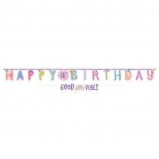 Girl-Chella Party Decorations - Banner Jumbo Add-An-Age Letter
