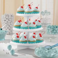 White 3 Tier Treat Cupcake Stand 29cm