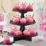 Black 3 Tier Treat Cupcake Stand 29cm