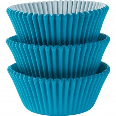 Caribbean Blue Cupcake Cases 5cm Pack of 75