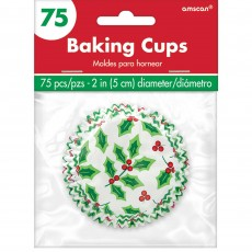 Christmas Holy Design Cupcake Cases 2.1cm Pack of 75