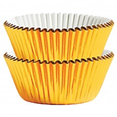 Gold Foil Mini Cupcake Cases 3cm Pack of 75