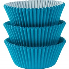 Caribbean Blue Mini Cupcake Cases 3cm Pack of 100