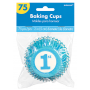 Blue Boy's 1st Birthday Standard Cupcake Cases Pack of 75