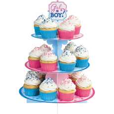 Gender Reveal Treat Girl or Boy? Cupcake Stand