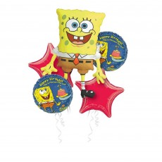 SpongeBob Bouquet Foil Balloons Pack of 5