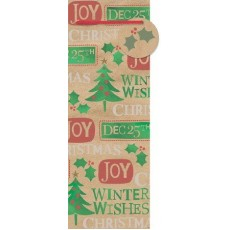 Christmas Contemporary Sayings Bottle Bags & Gift Tags Misc Accessory