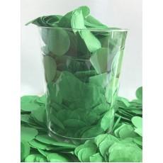 Green Confetti 200g 2cm Tissue Circles Single Pack
