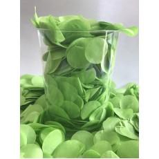 Green Confetti 200g Light Green 2cm Tissue Circles Single Pack