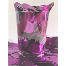 Purple Confetti 200g 2cm Metallic Circles Single Pack