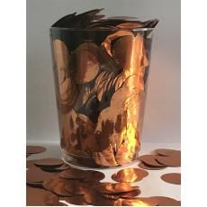 Round Copper Gold Metallic Foil Circles Confetti 200g Single Pack
