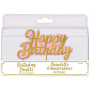 Glittered Pink & Gold Happy Birthday Pick Candle 7.6cm