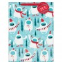 Christmas Party Supplies - Favour Bag Yeti & Gift Tag