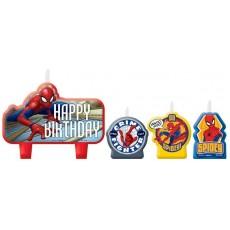 Spider-Man Webbed Wonder Mini Candles Pack of 4