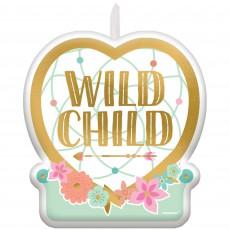 Boho Girl Wild Child Candle 6cm