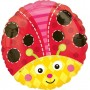 Round Misc Occasion Standard HX Cute Lady Bug Foil Balloon 45cm