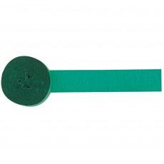Festive Green Crepe Streamer 24m