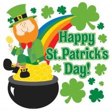 St Patrick's day Leprechaun Cardboard Cutout 38.1cm