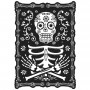 Halloween Black & Bone Lenticular Sign Misc Decoration 45cm x 30cm