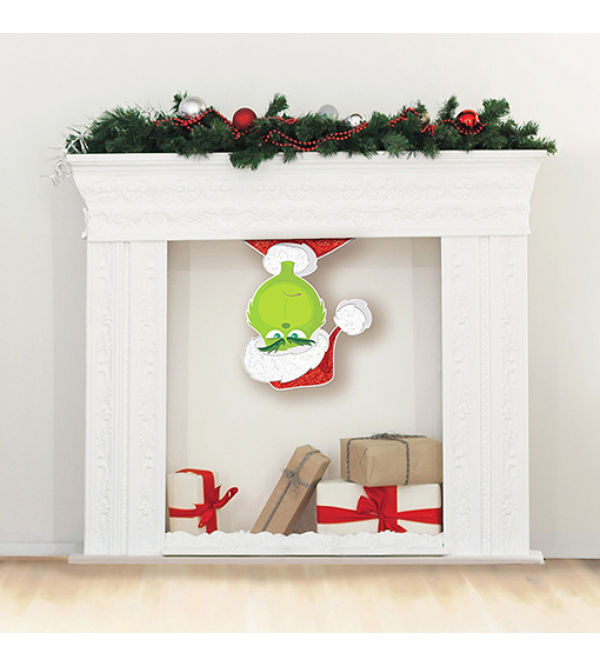Christmas Dr Seuss The Grinch Movie Upside Down Cutout 55.6cm