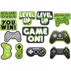 Level Up Gaming Party Decorations - Cutouts
