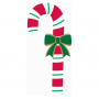 Christmas Party Decorations - Cutout Candy Cane & Bow