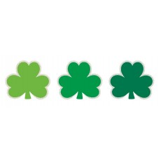 St Patrick's day Mini Glittered Shamrock Cutouts 6cm Pack of 50