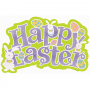 Large Glittered Happy Easter Cutout 45cm x 58cm