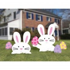 Easter Bunny Yard Signs Pack of 5