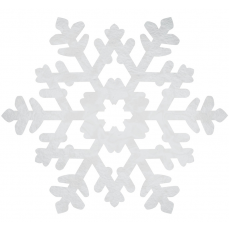 Christmas Party Decorations - Cutout Large Snowflake Foil