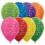 Anniversary Latex Balloons 30cm Metallic Multi Coloured Pack of 25
