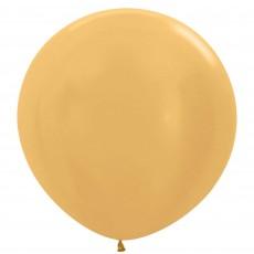Metallic Gold Latex Balloons 60cm Pack of 3