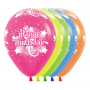 Teardrop Assorted Colours Happy Birthday Neon Party Latex Balloons 30cm Pack of 12