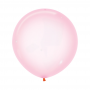 Round Crystal Pastel Pink Latex Balloons 60cm Pack of 3